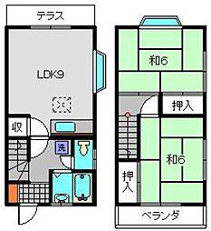 [テラスハウス] 神奈川県横浜市港南区芹が谷3丁目 の賃貸【/】の間取り