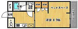 サンコーポ南片江[302号室]の間取り