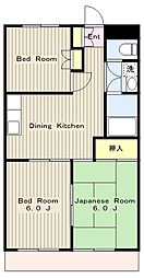 神奈川県厚木市愛甲4丁目の賃貸マンションの間取り