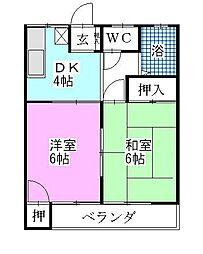 カトーガーデンハイツA[203号室]の間取り