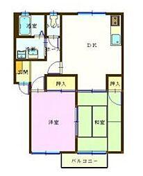 新潟県三条市下須頃の賃貸アパートの間取り