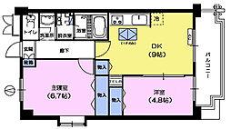 東京都板橋区赤塚6丁目の賃貸マンションの間取り