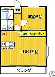 カーサ狛江[206号室]の間取り