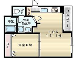 チアリ小松[4階]の間取り