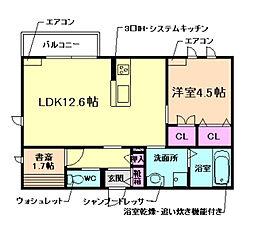 (仮称)豊中市上新田ヘーベルメゾン 3階1LDKの間取り