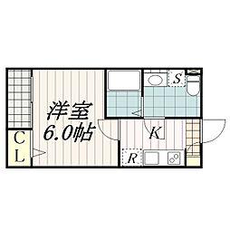 メゾン・ド新検見川[1階]の間取り