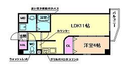 TMR玉川[3階]の間取り