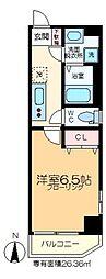 LASPACIO東陽町レジデンス 2階1Kの間取り