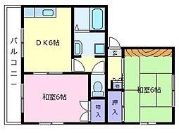 ドミール島泉A棟[1階]の間取り