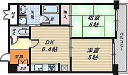 レピア堺湊[7階]の間取り