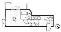 都営大江戸線 牛込柳町駅 徒歩9分の賃貸マンション 4階1Kの間取り