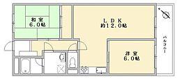 ハイライフ大濠405[4階]の間取り