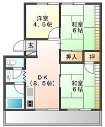 第一吉野川ハイツ[1階]の間取り