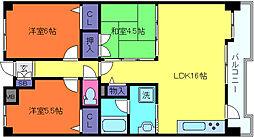 メゾンドカスカード六甲[3階]の間取り
