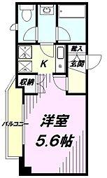 京王線 京王八王子駅 徒歩3分の賃貸マンション 11階1Kの間取り