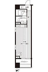 コスモグラシア芝大門 10階ワンルームの間取り