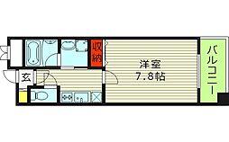 オルゴグラート鶴見 5階1Kの間取り