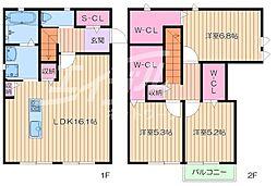 [テラスハウス] 大阪府豊中市柴原町1丁目 の賃貸【/】の間取り