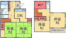 [一戸建] 千葉県千葉市中央区南生実町 の賃貸【/】の間取り
