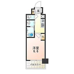 Osaka Metro御堂筋線 西中島南方駅 徒歩8分の賃貸マンション 8階1Kの間取り