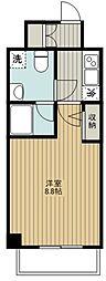 ジェノヴィア武蔵関公園スカイガーデン 2階1Kの間取り