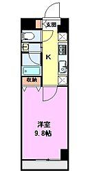 パークソレイユ新潟駅前 4階1Kの間取り