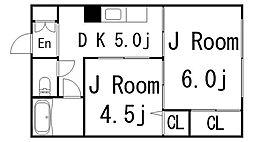 松尾ビル[504号室]の間取り