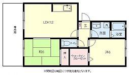 [タウンハウス] 福岡県福岡市博多区板付4丁目 の賃貸【/】の間取り