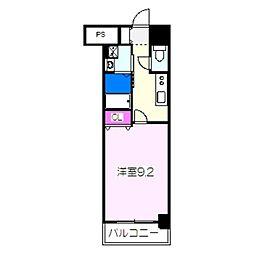JR阪和線 津久野駅 徒歩6分の賃貸マンション 8階1Kの間取り