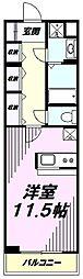 JR八高線 北八王子駅 徒歩11分の賃貸マンション 1階ワンルームの間取り