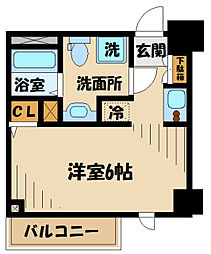 N-stage Toyoda 2階1Kの間取り