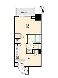 東京メトロ丸ノ内線 方南町駅 徒歩5分の賃貸マンション 2階ワンルームの間取り