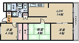 サンシャイン大和[2階]の間取り