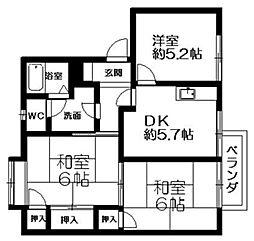 アド・バンスA・B棟[2階]の間取り