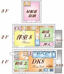 [テラスハウス] 兵庫県神戸市須磨区平田町5丁目 の賃貸【/】の間取り
