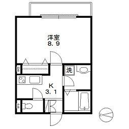 Maison de Onze[0203号室]の間取り