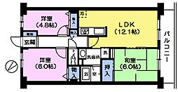 プレステージ平和台1番館[4階]の間取り