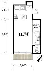 FLAT−7(フラットセブン)[3階]の間取り