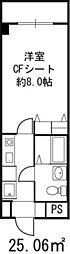 ドミール桜川[4階]の間取り