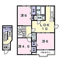 アーバンビレッジB[2階]の間取り