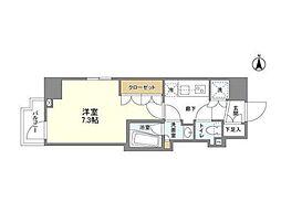 京王線 桜上水駅 徒歩8分の賃貸マンション 9階1Kの間取り