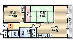 メゾンサンテ[5階]の間取り
