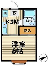 ヴェルデ鎌倉[202号室]の間取り