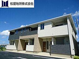 愛知県豊橋市神野新田町字ホノ割の賃貸アパートの外観