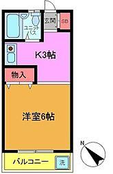 プリデ堀江[203号室]の間取り