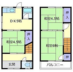 [テラスハウス] 大阪府松原市西大塚1丁目 の賃貸【/】の間取り
