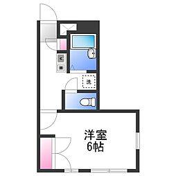 泉北高速鉄道 和泉中央駅 徒歩25分の賃貸アパート 1階1Kの間取り
