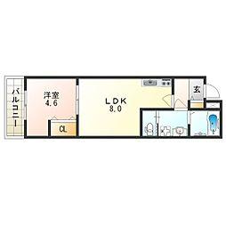 H-maison加美正覚寺V 1階1LDKの間取り