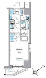 東武東上線 下赤塚駅 徒歩2分の賃貸マンション 7階1Kの間取り