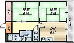 レジデンス時計台[4階]の間取り